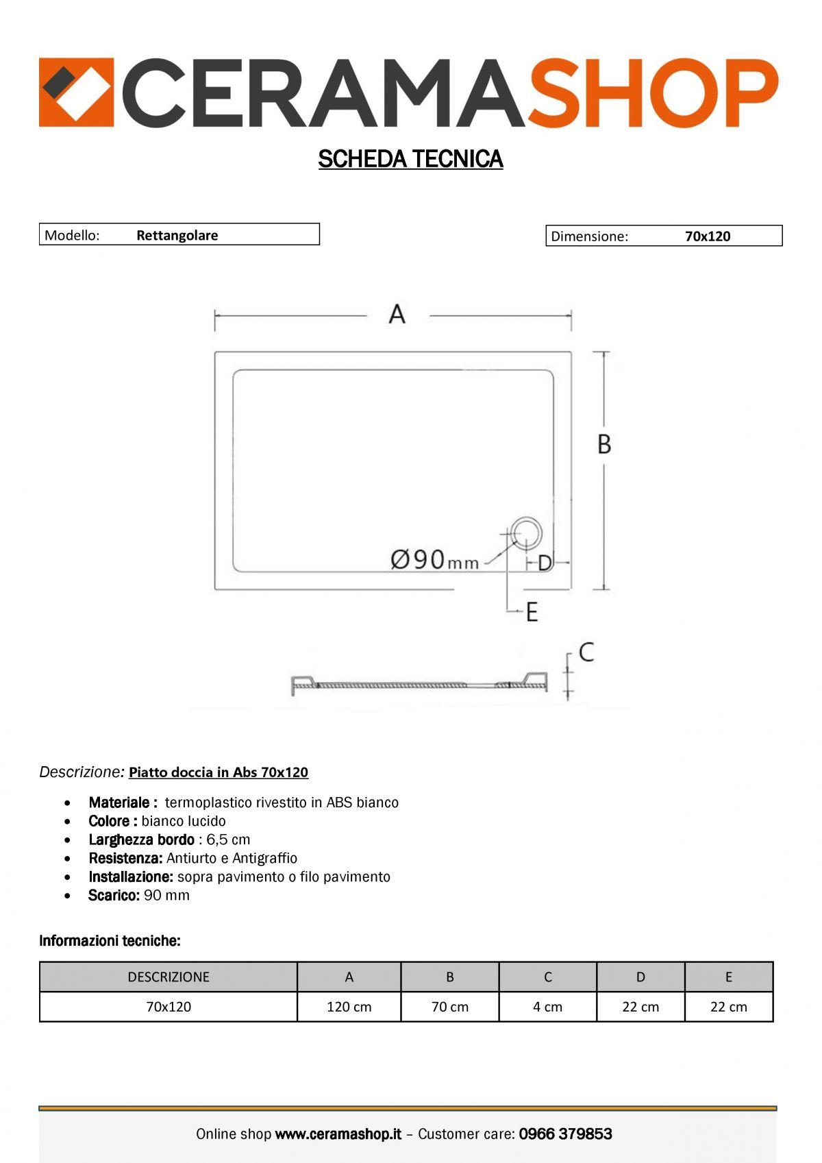 70x120 0001 9 scaled Piatto doccia rettangolare