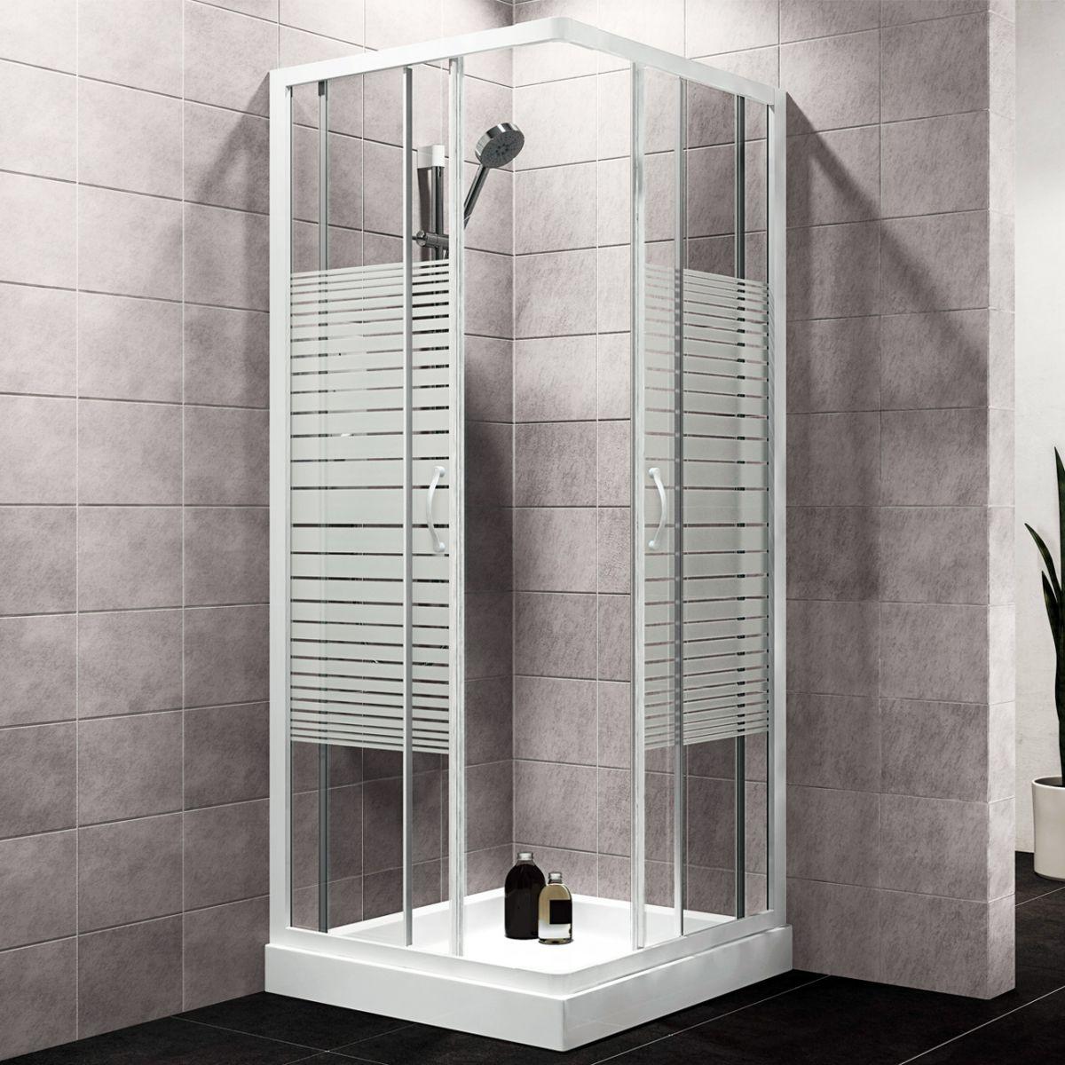 Box doccia 4 mm. Mod. 6512 aperto Box doccia rettangolare