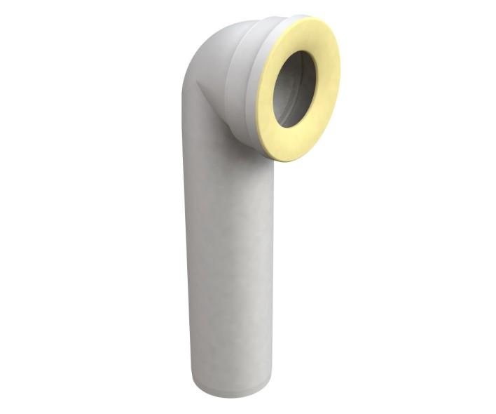 CURVA DIRITTA BONOMINI Curva tecnica diritta da Ø90mm in materiale termoplastico per wc filomuro a terra