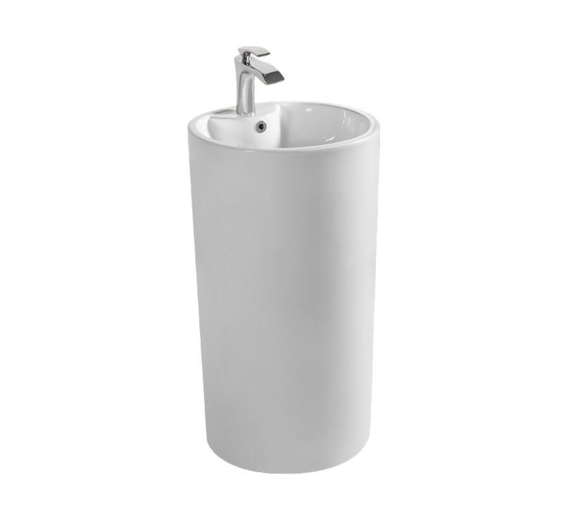 G 006 Lavabo freestanding cod G-006 in ceramica di forma rettangolare col bianco lucido