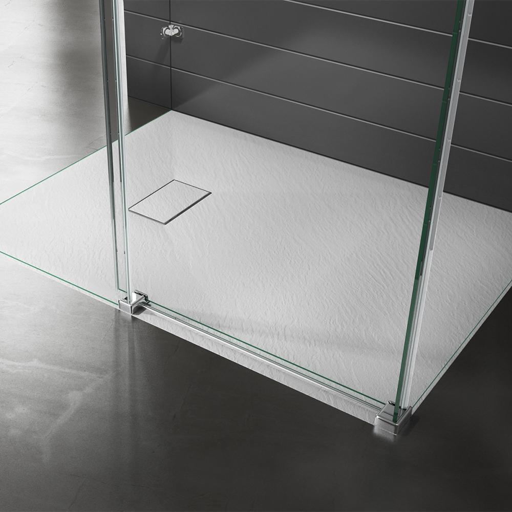 Piatto doccia effpietra bianco 2 Piatto doccia rettangolare