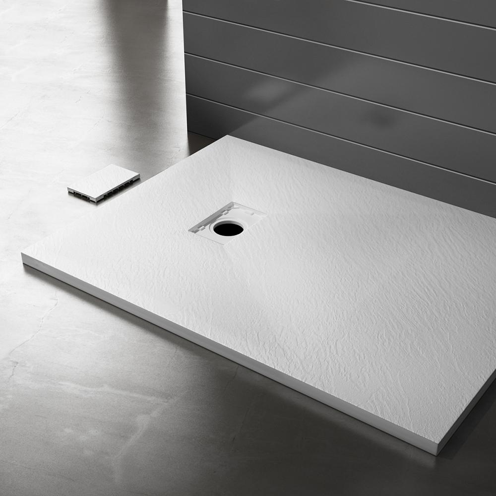 Piatto doccia effpietra bianco 3 Piatto doccia rettangolare