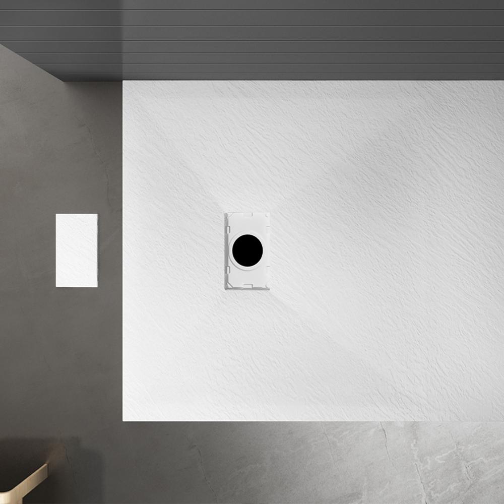Piatto doccia effpietra bianco 4 Piatto doccia rettangolare