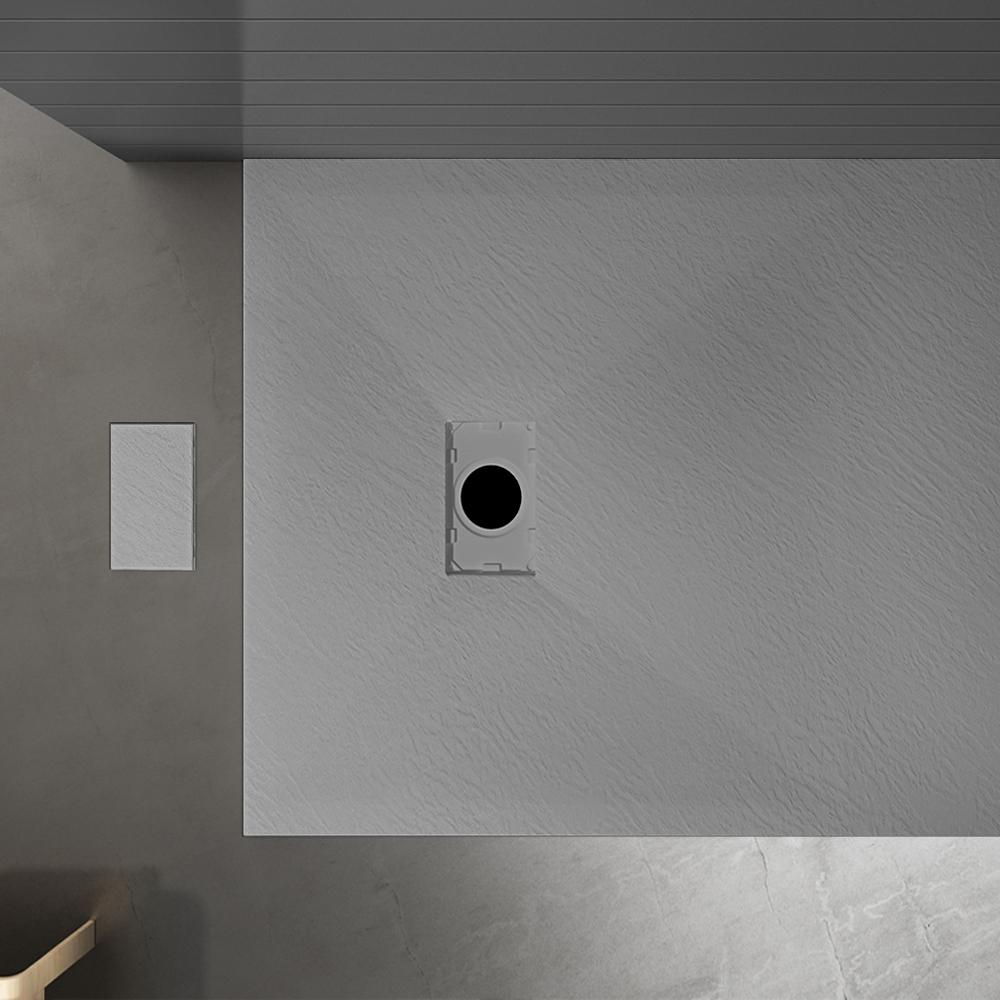 Piatto doccia effpietra grigio 4 Piatto doccia rettangolare