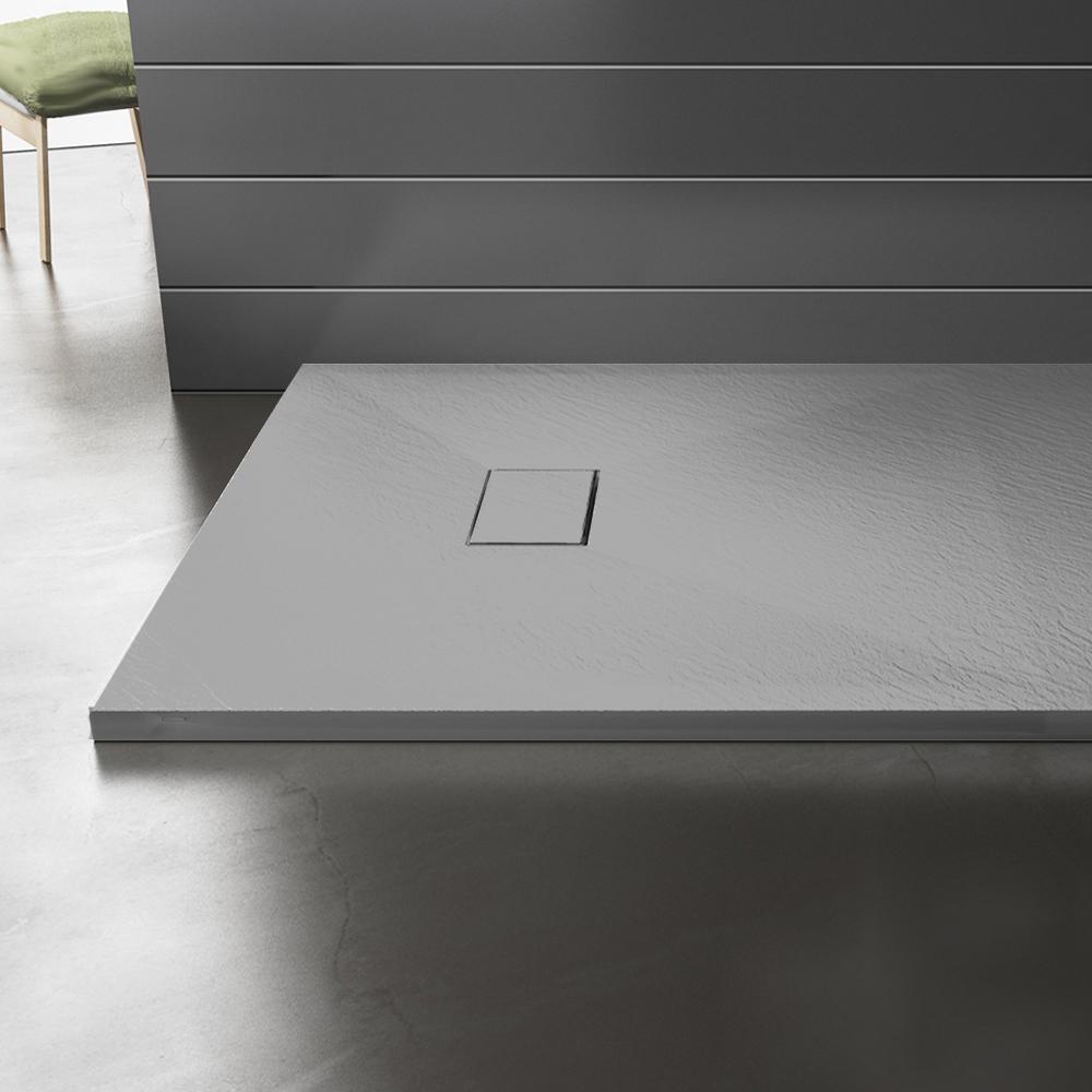 Piatto doccia effpietra grigio 6 Piatto doccia rettangolare