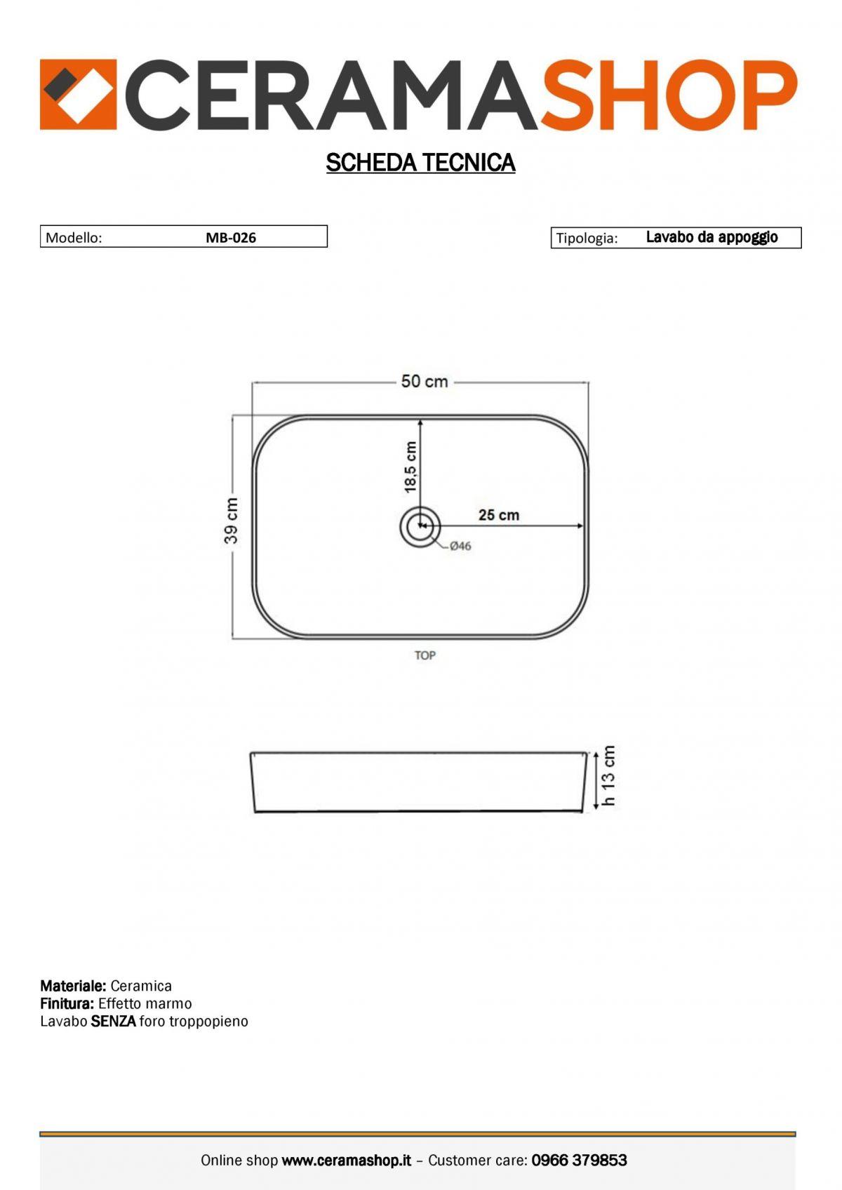MB 026 0001 scaled Lavabo bacinella cod MB-026 da appoggio in ceramica di forma rettangolare finitura effetto marmo