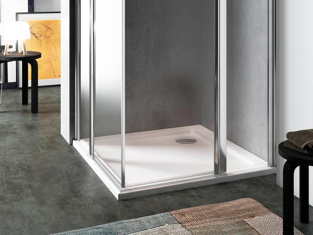 Piatto doccia rettangolare 80×120 h3 cm mod Quickr in termoplastico rivestito in Abs