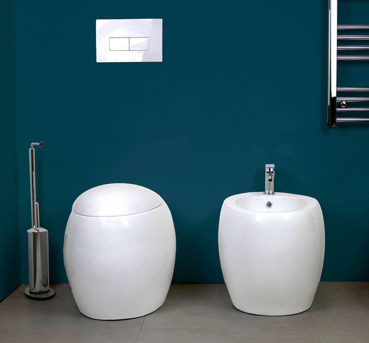 SFERA TERRA 2 Sanitari filo muro Sfera in ceramica Vaso+Bidet+Coprivaso Soft Close