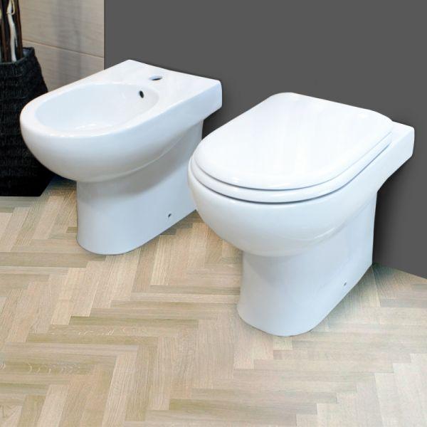 Sanitari filo muro a terra vaso bidet coprivaso Mod Klio extra big 1210 171 Ceramashop Store Online di igienico-sanitari ed accessori per il bagno