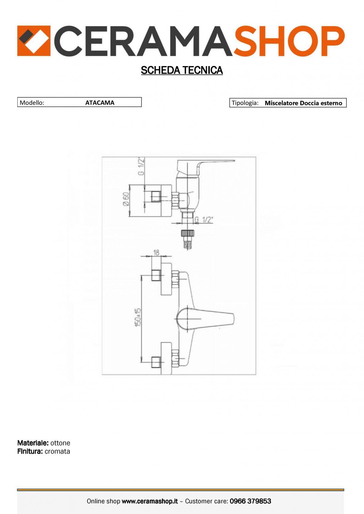 doccia esterno atacama 0001 1 scaled Miscelatore Doccia Esterno