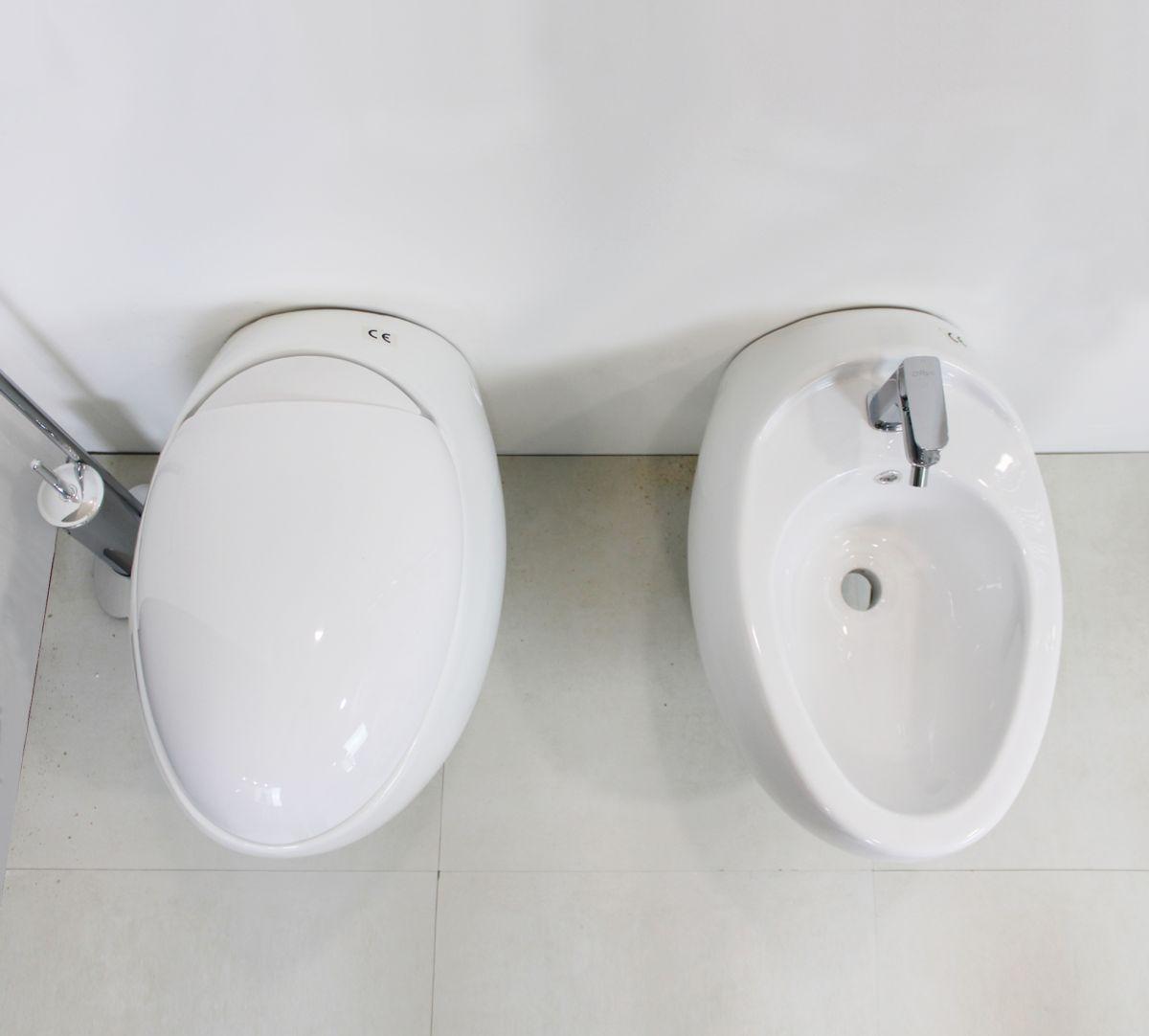 sfera 2 Sanitari Sospesi Sfera in ceramica Vaso+Bidet+Coprivaso Soft Close