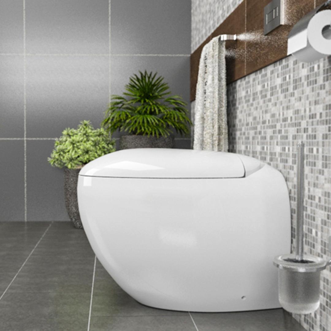 sfera particolare Sanitari filo muro Sfera in ceramica Vaso+Bidet+Coprivaso Soft Close