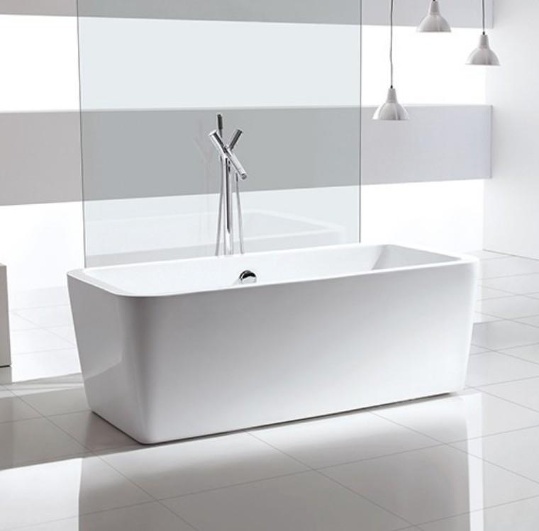 FC 304 1 Vasca da bagno in acrilico 170x80x60 cm freestanding forma rettangolare