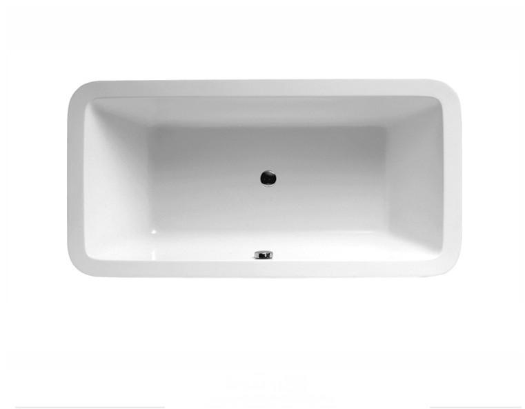 FC 304 2 Vasca da bagno in acrilico 170x80x60 cm freestanding forma rettangolare