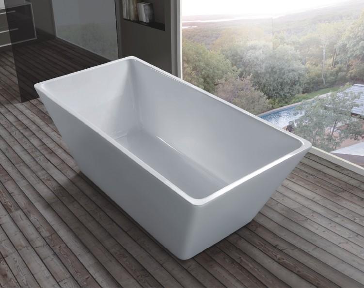 FC 334 1 Vasca da bagno in acrilico 170x70x60 cm freestanding forma rettangolare