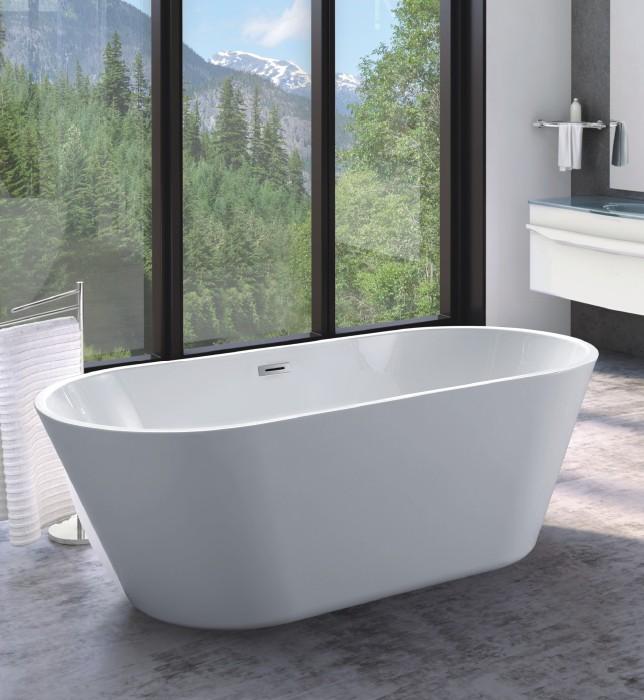 fc 335 1 Vasca da bagno in acrilico 170x70x60 cm freestanding forma tonda