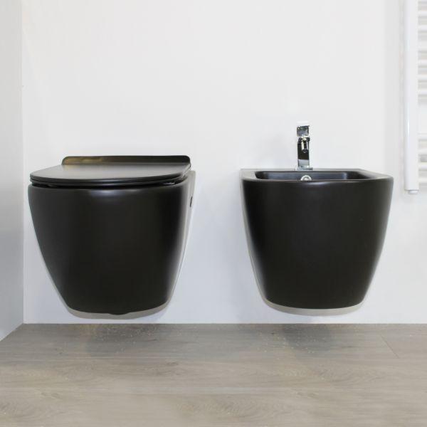 round nero sospeso 2 Ceramashop Store Online di igienico-sanitari ed accessori per il bagno