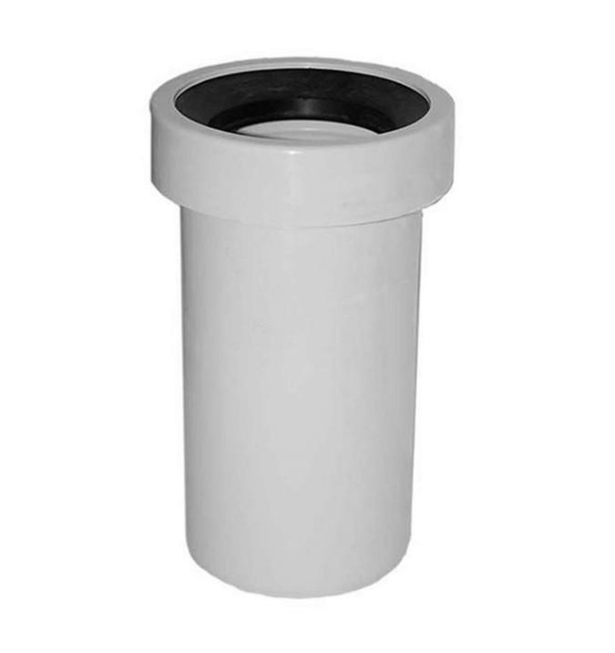 raccordowc Manicotto raccordo diritto rigido in pvc per wc scarico a parete diam. 110x225 mm
