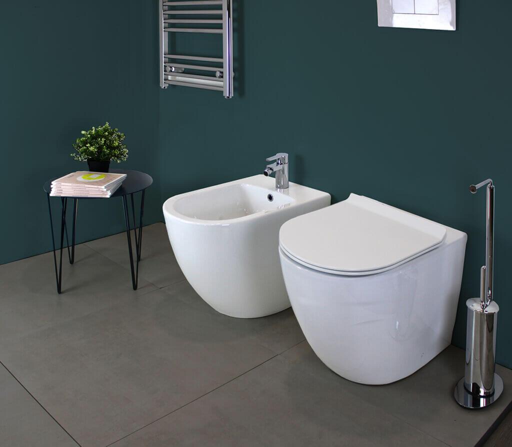 ROUND SLIM TERRA 1 1 1024x894 1 Sanitari filo muro Round in ceramica Vaso+Bidet+Coprivaso Soft Close