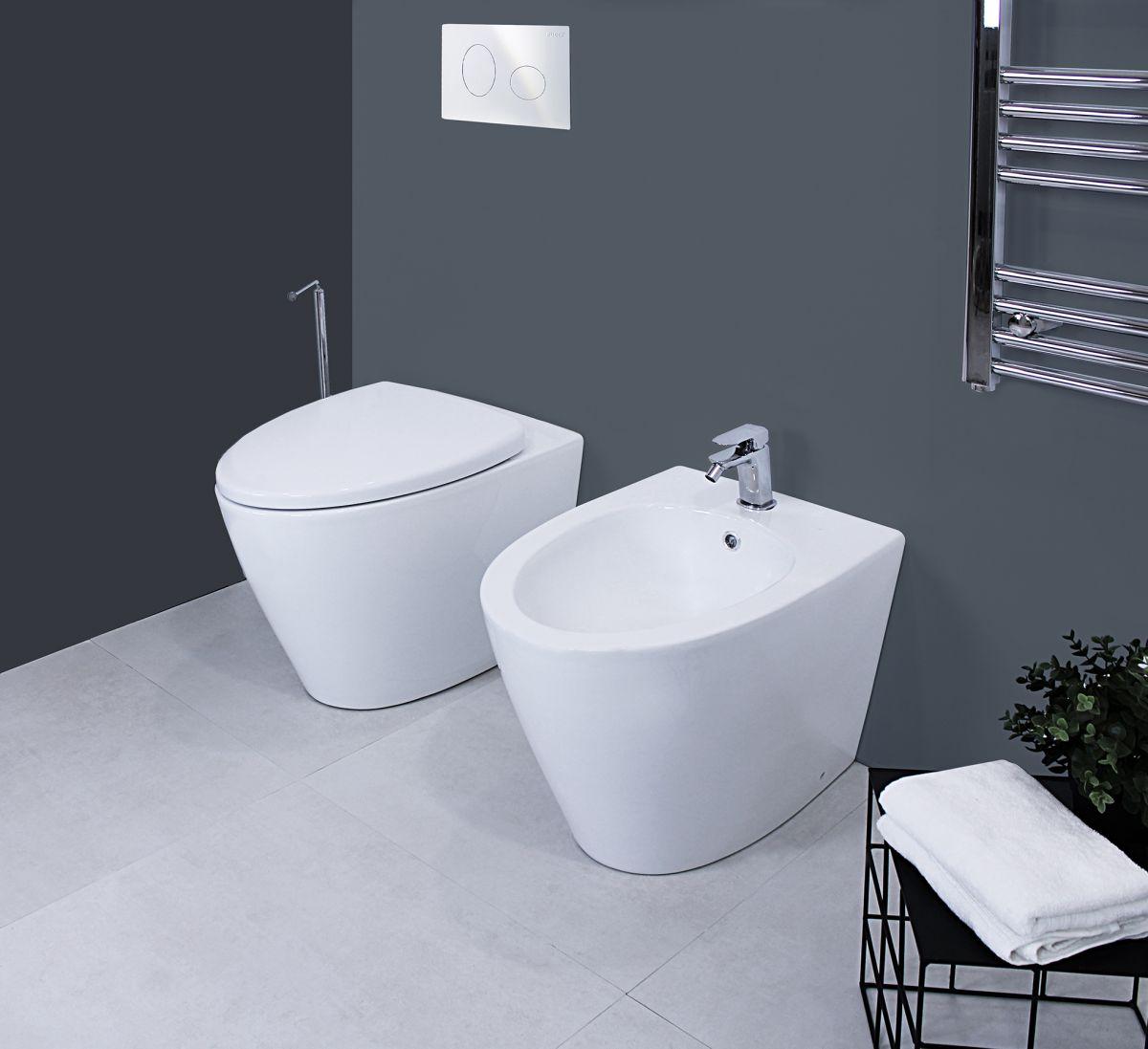 Grace terra 1 Sanitari filo muro Grace in ceramica Vaso+Bidet+Coprivaso Soft Close
