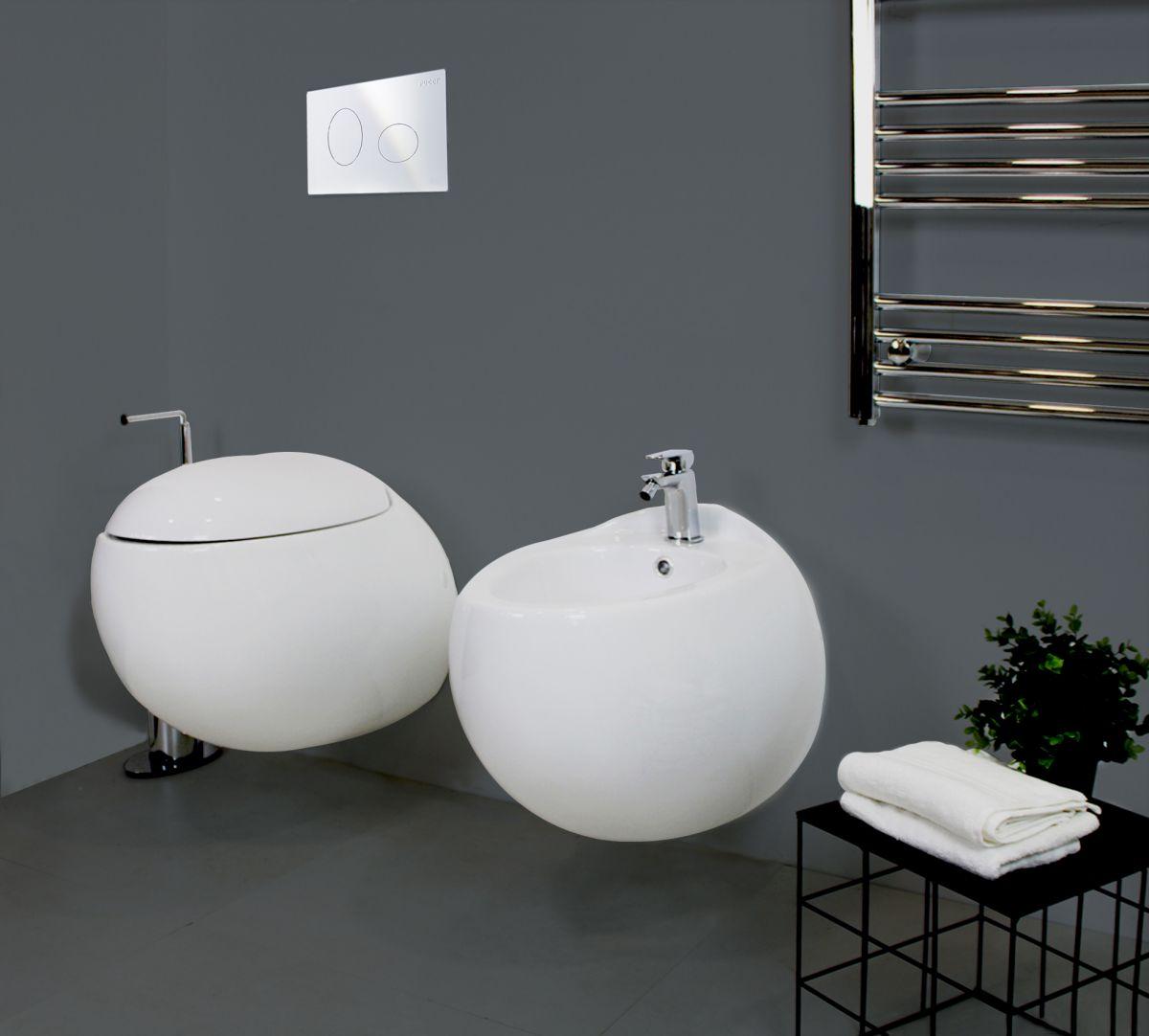 Sfera Sospeso 1 Sanitari Sospesi Sfera in ceramica Vaso+Bidet+Coprivaso Soft Close