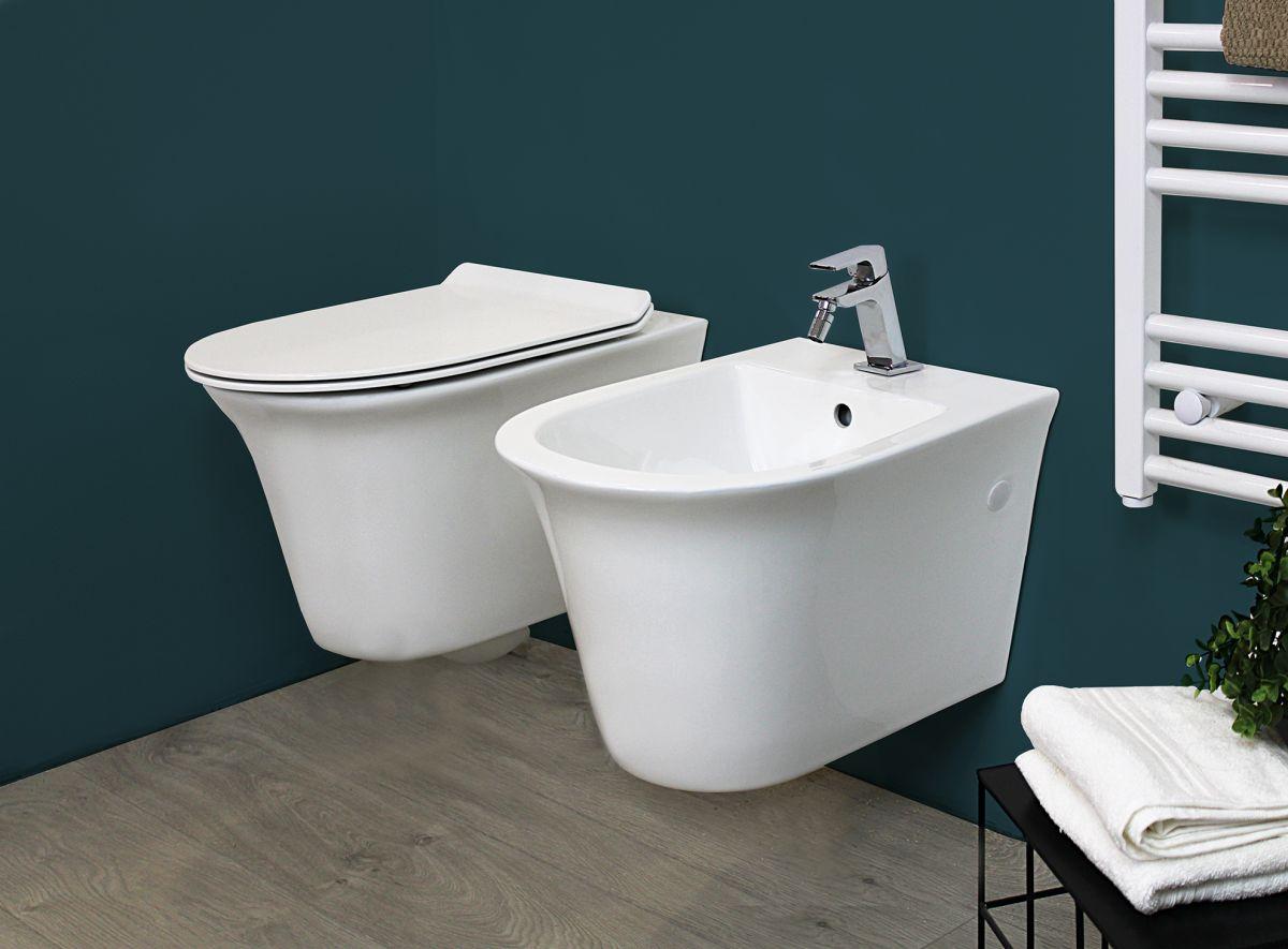 Smart sospeso 1 Sanitari Sospesi Smart in ceramica Vaso+Bidet+Coprivaso Soft Close