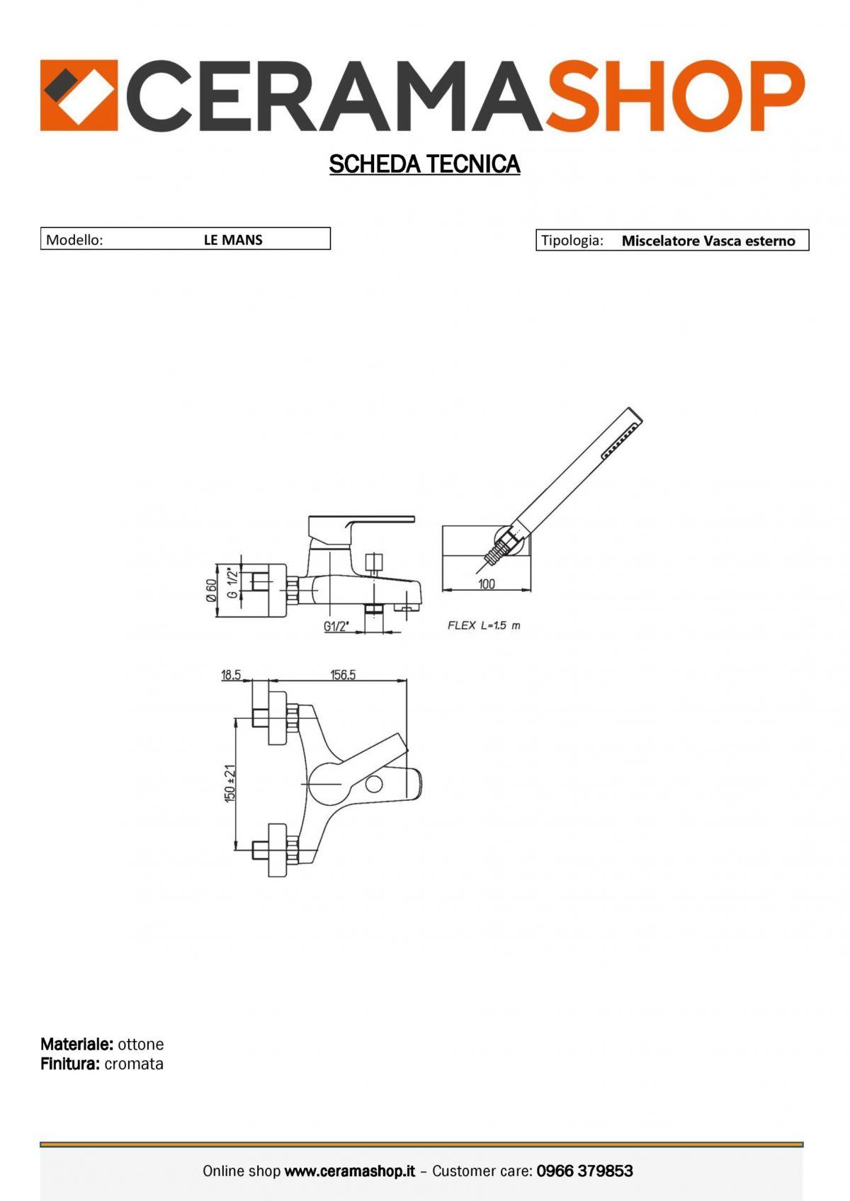 """le mans vasca esterno 0001 scaled Miscelatore Vasca esterno con duplex """"Le Mans"""" by Paini"""