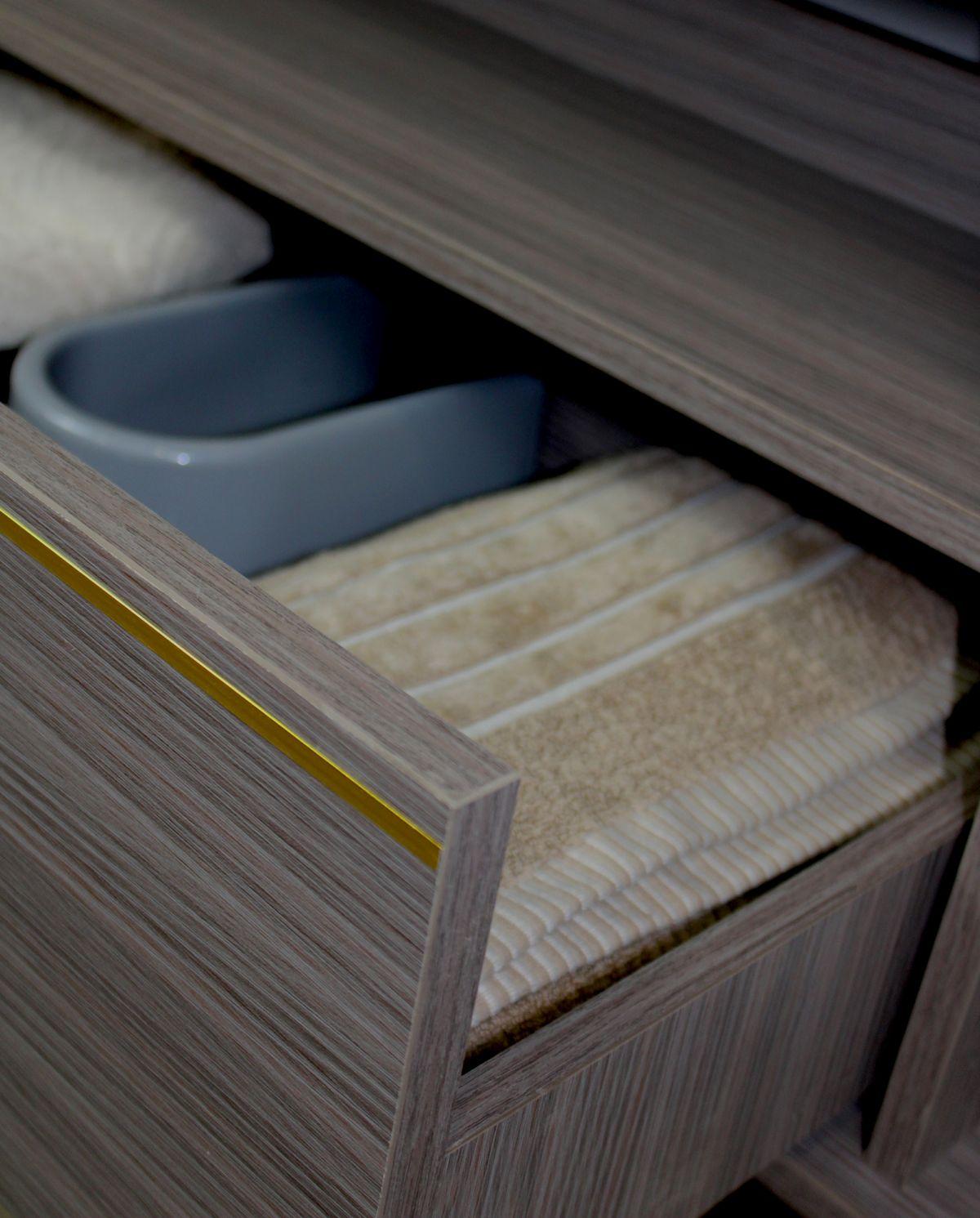 Atene 1 Mobile bagno Atene sospeso da 100 cm vinaccia effetto legno con lavabo specchio e pensile