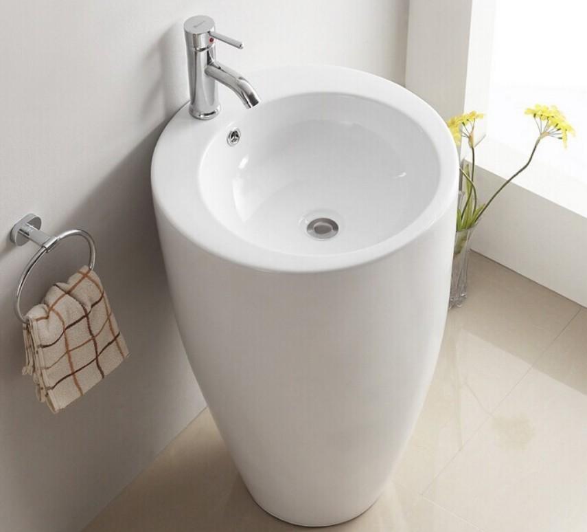 G 004lavabo freestanding 2 Lavabo freestanding cod G-004 in ceramica di forma rettangolare col bianco lucido
