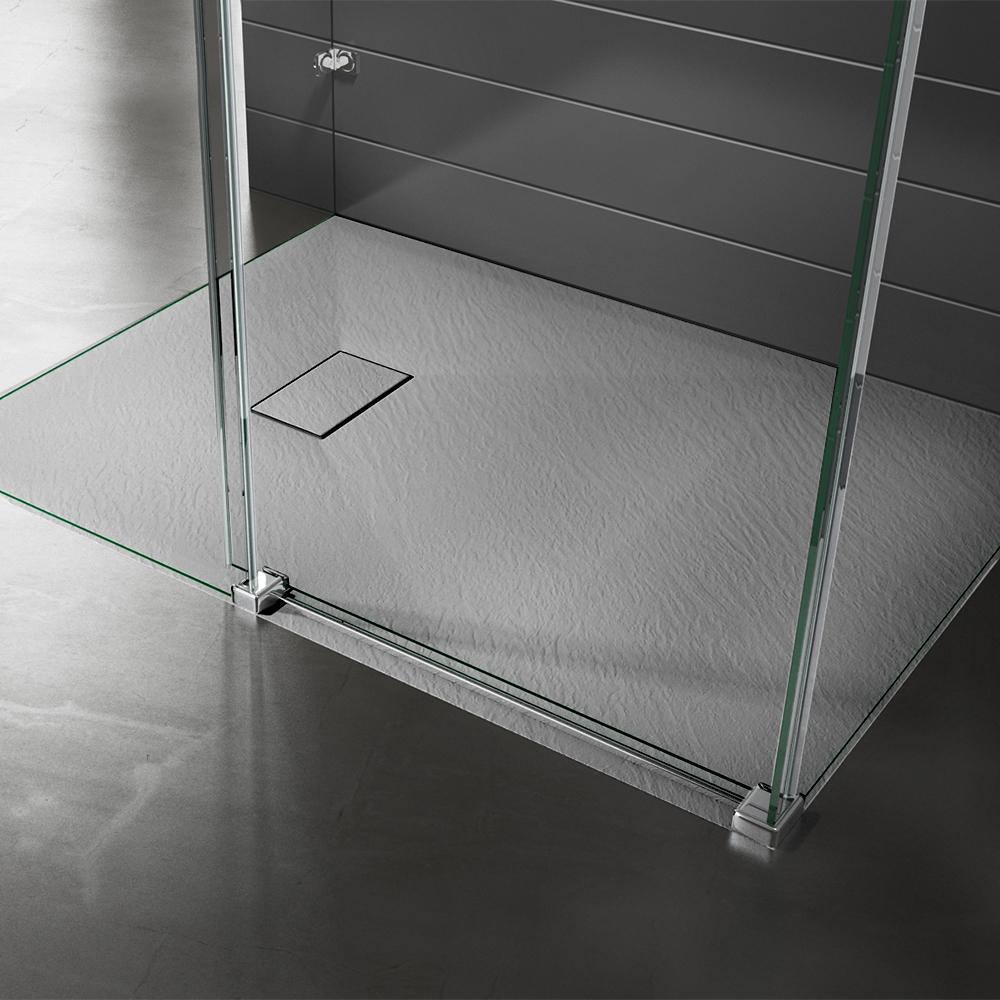 Piatto doccia effpietra grigio 2 Piatto doccia rettangolare