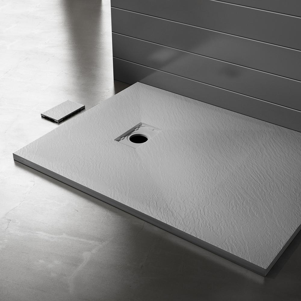 Piatto doccia effpietra grigio 3 Piatto doccia rettangolare