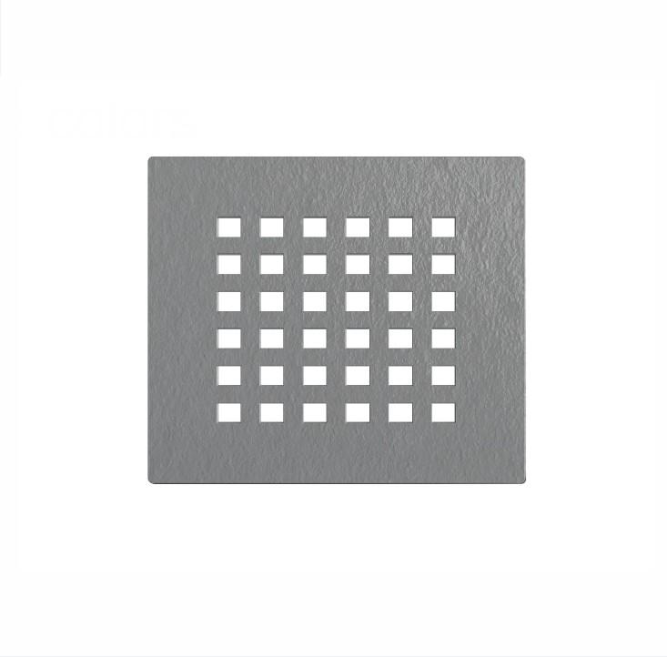Pil grigia 1 Griglia copri-piletta colore grigio per piatto doccia in marmogres Dolomia