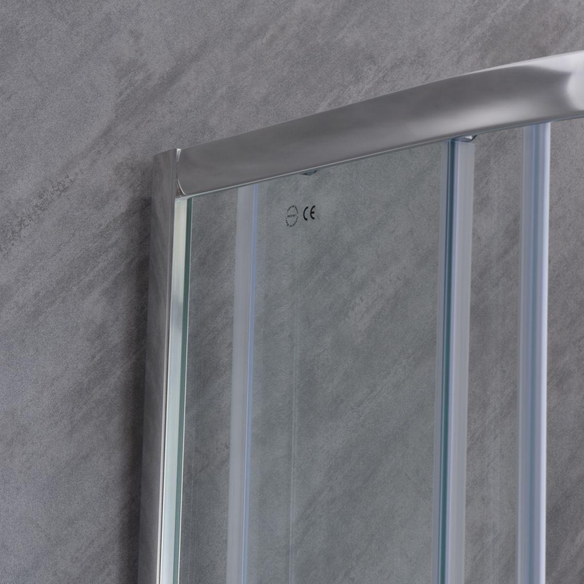 """SE 101 5 Box doccia semicircolare """"Saturno"""" 80×80 cm scorrevole cristallo trasparente 6 mm"""