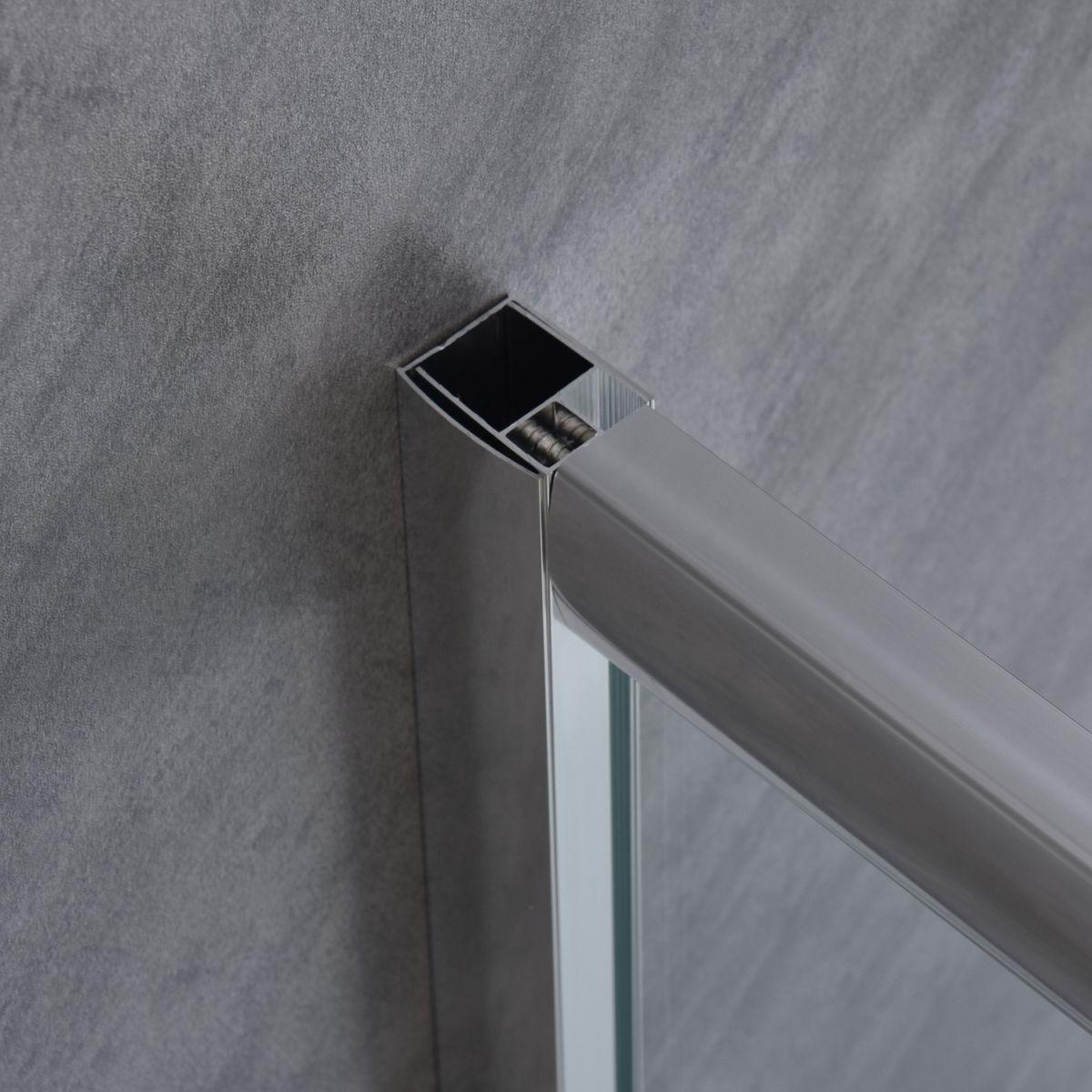 """SE 111 3 Box doccia rettangolare """"Saturno"""" 70×90 cm scorrevole cristallo trasparente 6 mm"""