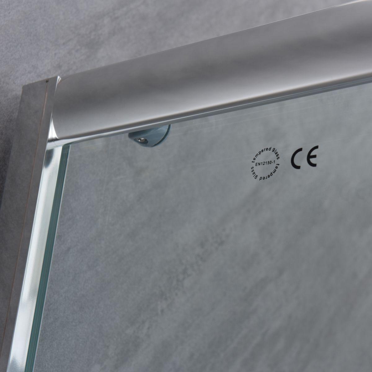 """SE 111 4 Box doccia rettangolare """"Saturno"""" 70×90 cm scorrevole cristallo trasparente 6 mm"""