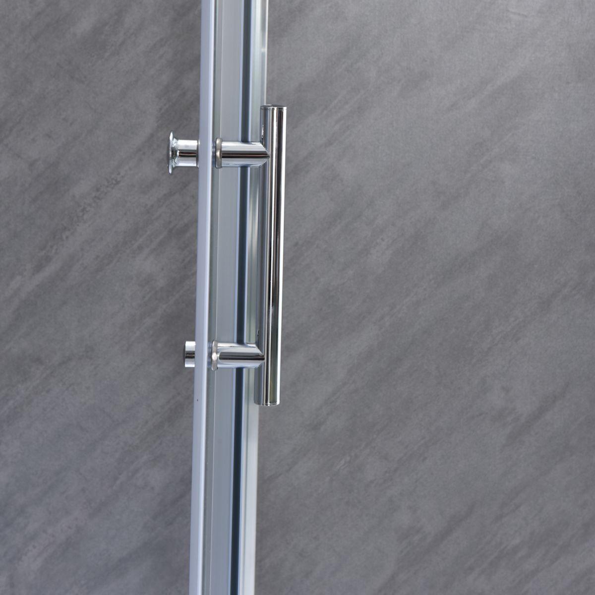 """SE 111 5 Box doccia rettangolare """"Saturno"""" 70×90 cm scorrevole cristallo trasparente 6 mm"""