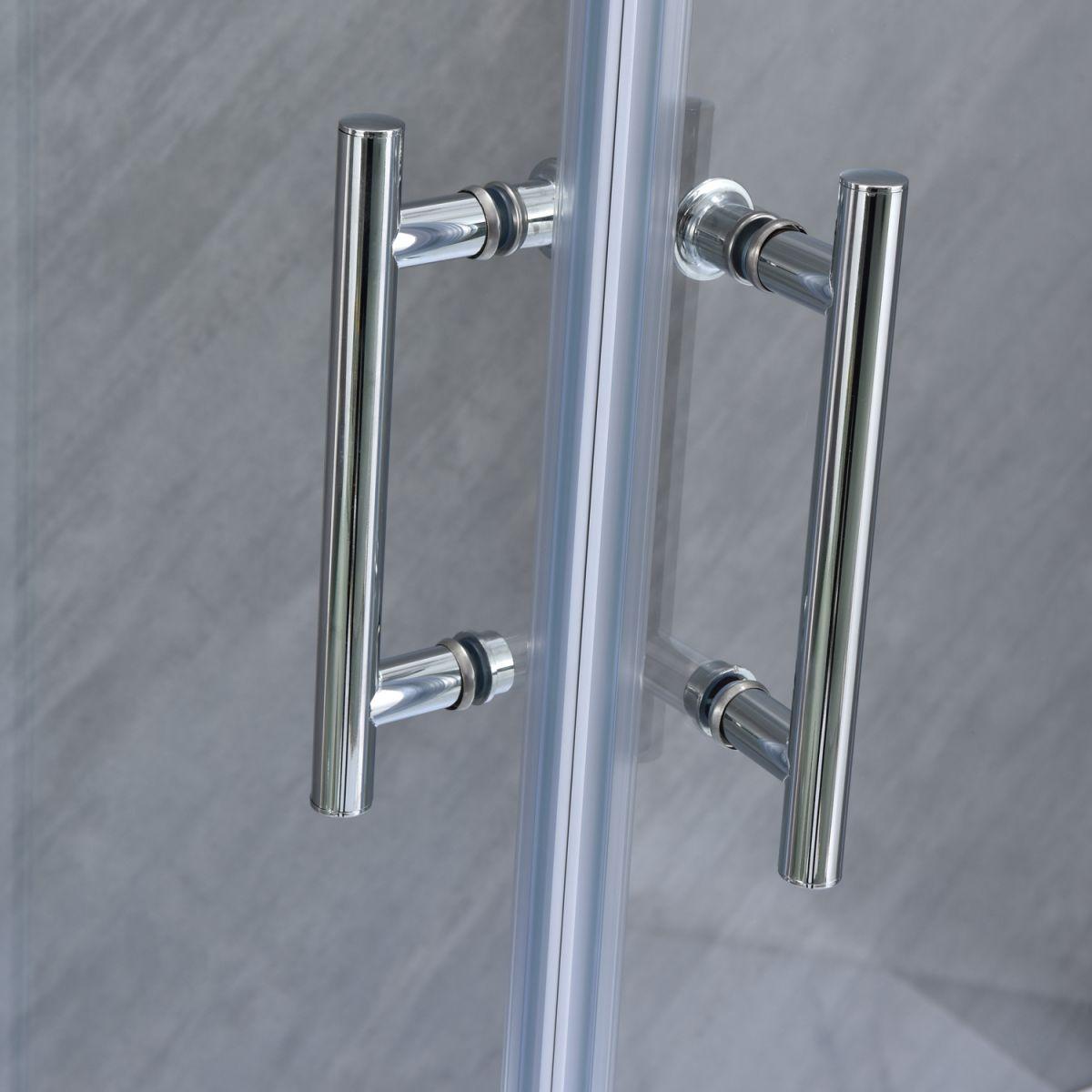"""SE 111 6 Box doccia rettangolare """"Saturno"""" 70×90 cm scorrevole cristallo trasparente 6 mm"""