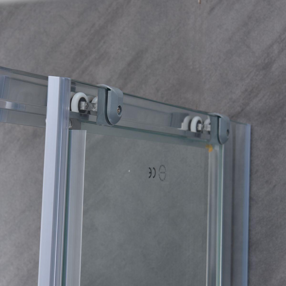 """SE 111 7 Box doccia rettangolare """"Saturno"""" 70×90 cm scorrevole cristallo trasparente 6 mm"""