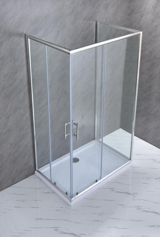 """SE 119 3 Box doccia tre lati """"Saturno"""" 70x100x70 cm scorrevole cristallo trasparente 6 mm"""