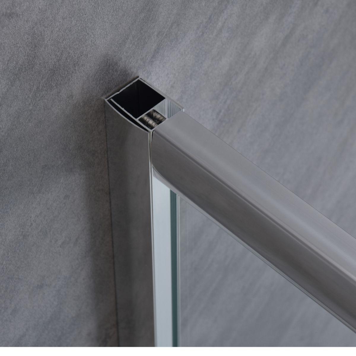"""SE 119 9 Box doccia tre lati """"Saturno"""" 70x100x70 cm scorrevole cristallo trasparente 6 mm"""