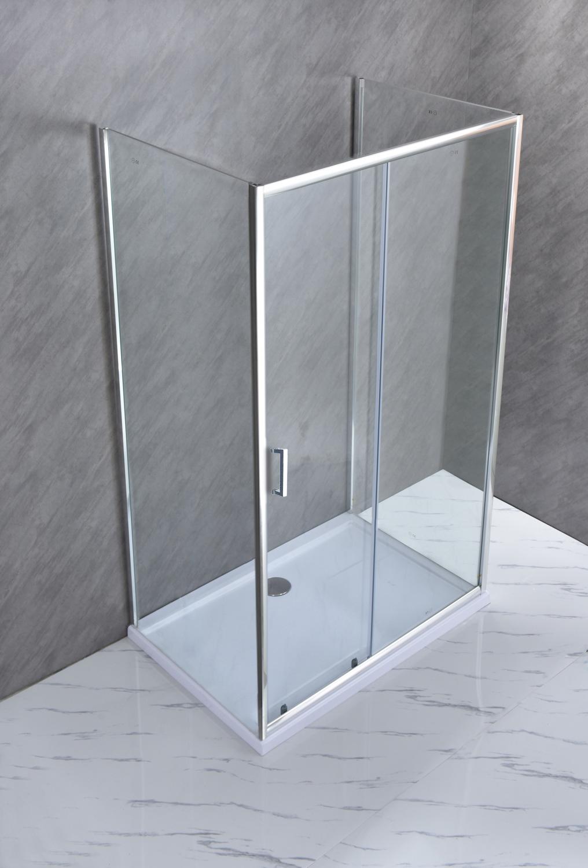 """SE 141 03 Box Cabina doccia tre lati """"Saturno"""" 80x100x80 cm scorrevole cristallo trasparente 6 mm"""