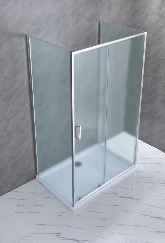 """SE 142 03 Box Cabina doccia tre lati """"Saturno"""" 70x130x70 cm scorrevole cristallo satinato 6 mm"""