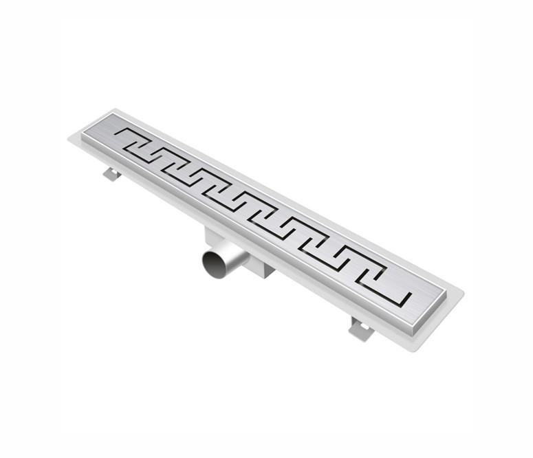 canalina SD C03 foto1 Canalina di scarico per doccia da 60 cm in acciaio Inox, con sifone mod. Greca