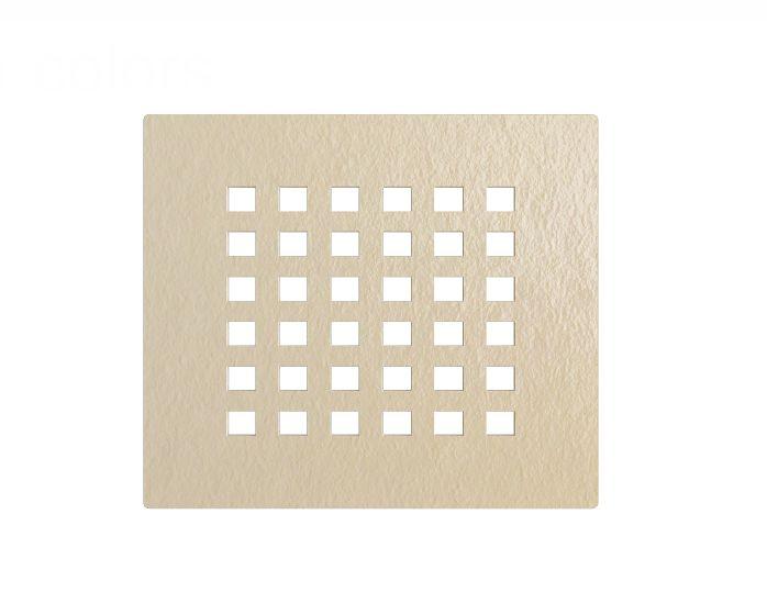cover beige serieF Griglia copri-piletta colore beige per piatto doccia in marmogres Dolomia