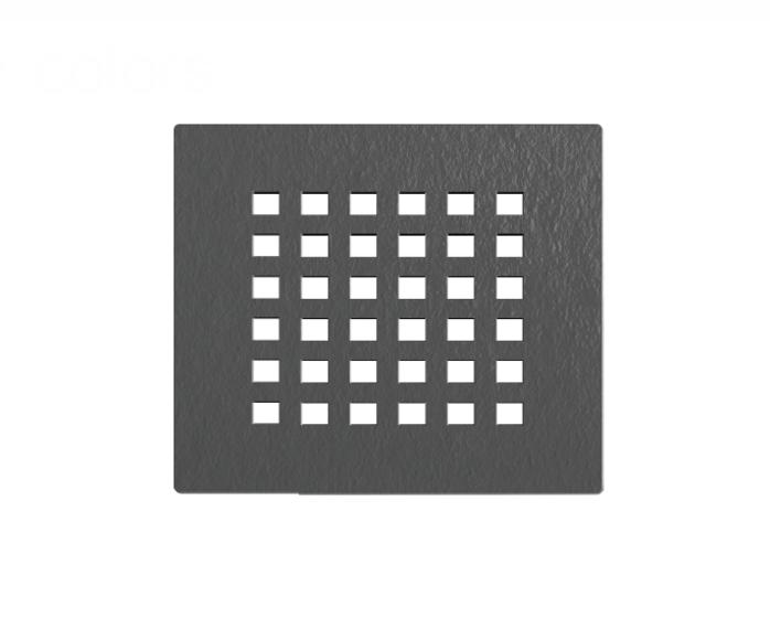 cover darkgrigia serieF Griglia copri-piletta colore grigio scuro per piatto doccia in marmogres Dolomia