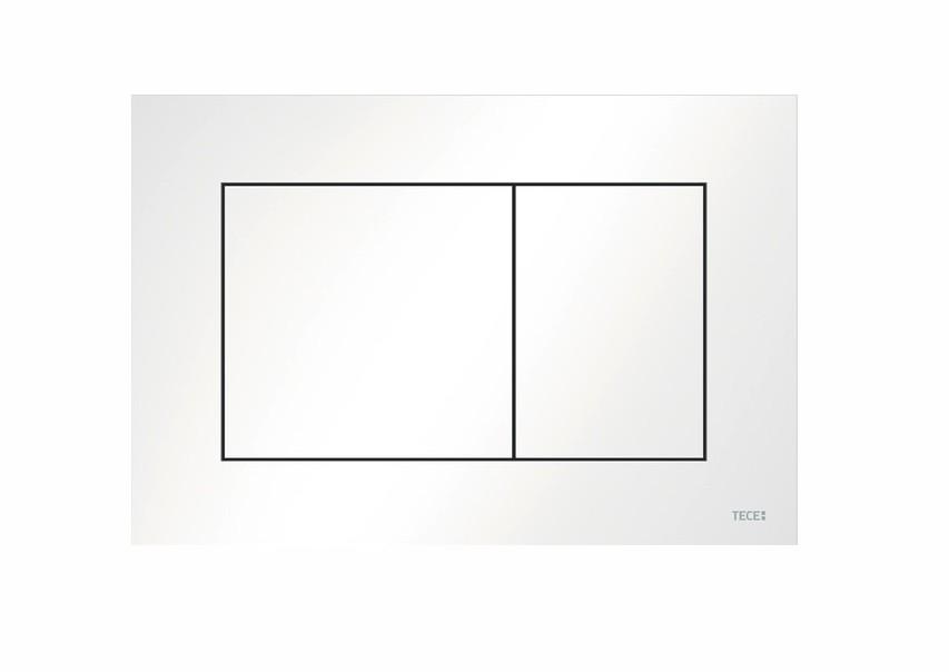 tece 9240400 Placca per cassetta incasso TECEnow, 2 pulsanti bianca