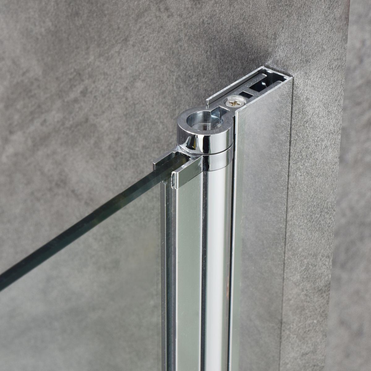 """SC 2117 4 Porta doccia """"Nettuno"""" con anta battente 90 cm cristallo trasparente da 6 mm"""