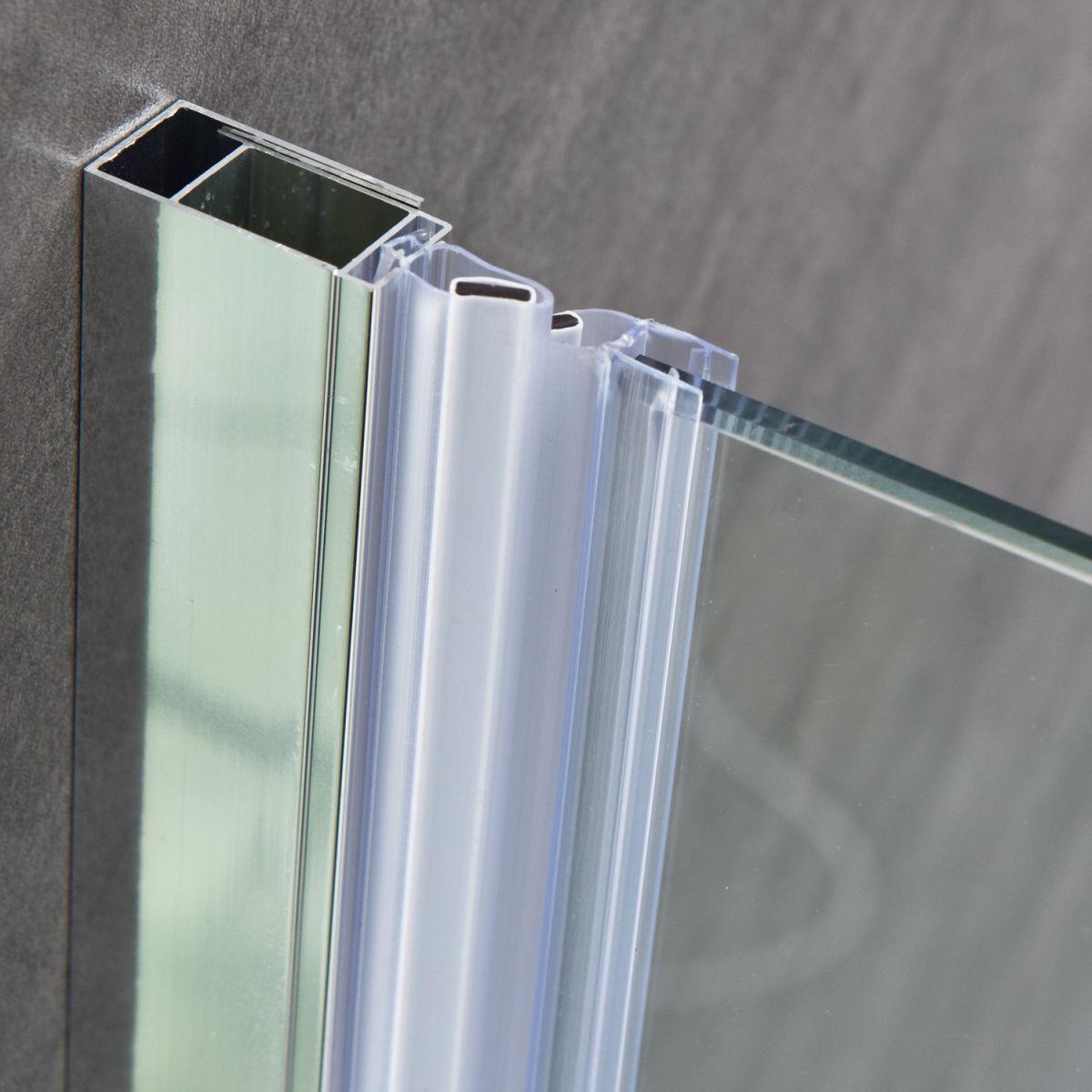 """SC 2117 5 Porta doccia """"Nettuno"""" con anta battente 90 cm cristallo trasparente da 6 mm"""
