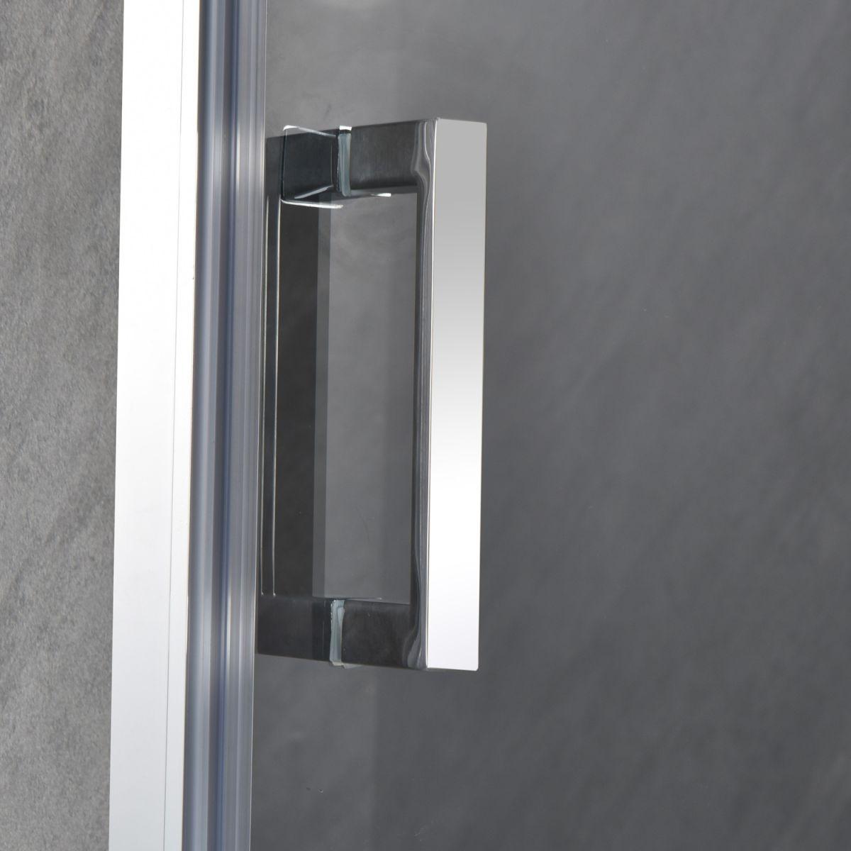"""SC 2117 6 Porta doccia """"Nettuno"""" con anta battente 90 cm cristallo trasparente da 6 mm"""