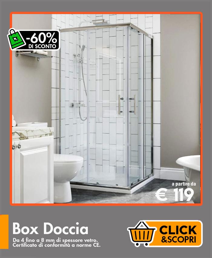 Box doccia Ceramashop Store Online di igienico-sanitari ed accessori per il bagno
